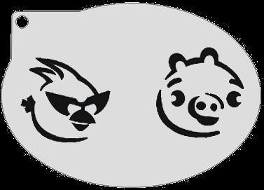 Schminksjabloon Angry Birds