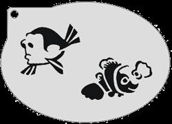 Schminksjabloon Dory & Nemo