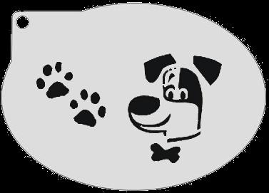 Schminksjabloon Hond & Pootjes