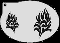 Schminksjabloon Pauw