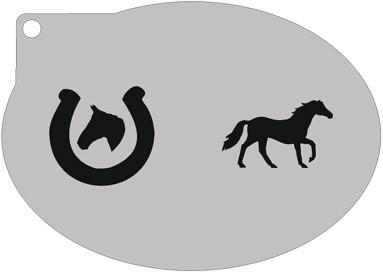 Schminksjabloon Paard en hoefijzer