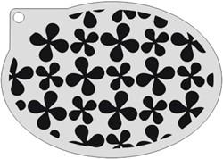 Schminksjabloon Bloemenpatroon