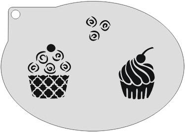 Schminksjabloon Cupcake