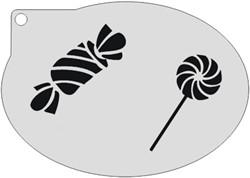 Schminksjabloon Lolly en Snoepje
