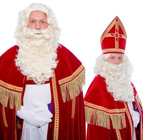 Sinterklaas Baardstel P kanekalon met krul snor