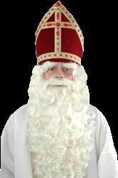 Sinterklaas Baardstel P nieuw kanekalon