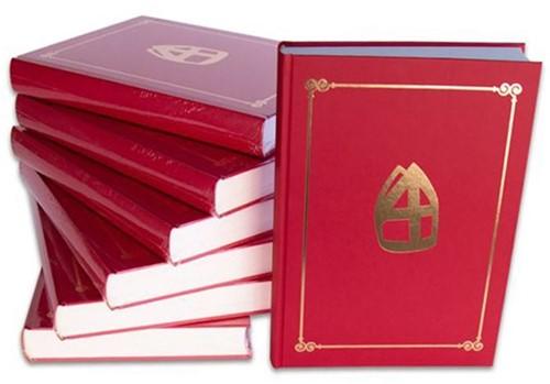 Sinterklaas boek met mijter