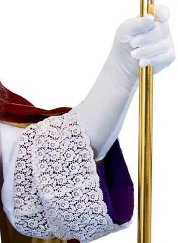 Sint Handschoenen Wit Lang XL