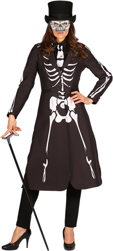 Skelet Dames Jas Maat M