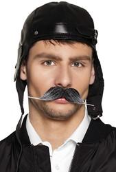 Snor grijs Piloot