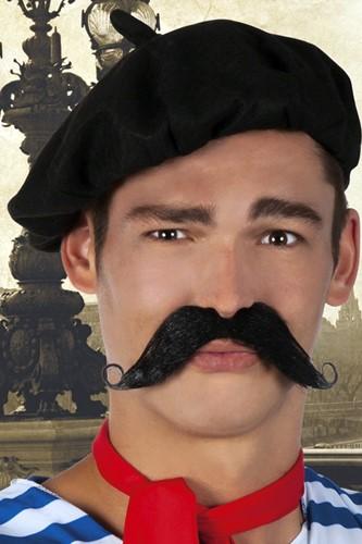 Snor Zwart Fransman