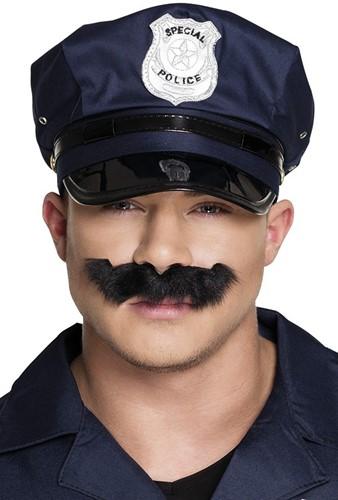 Snor zwart Politie Agent