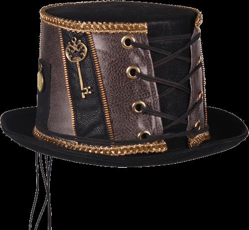 Steampunk hoed zwart luxe