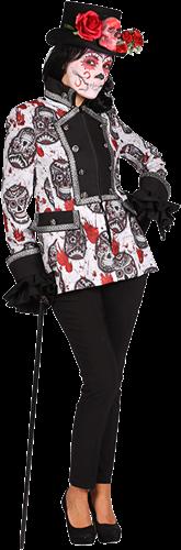 Sugar Skull Zwart/Wit Dames Jas Maat L-2
