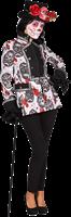 Sugar Skull Zwart Wit Dames Jas Maat S-2