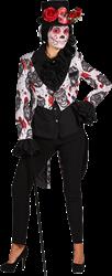 Sugar Skull Zwart Wit Dames Slipjas Maat L