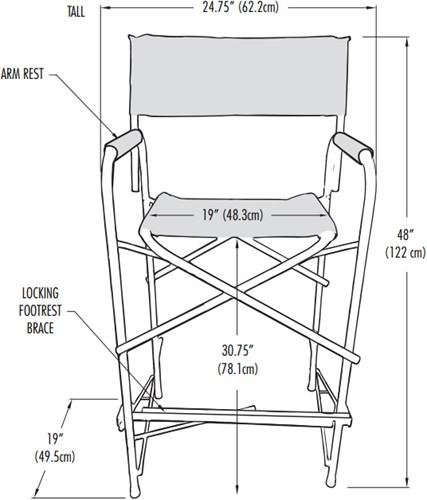 Schmink stoel zwart incl. draagtas-2