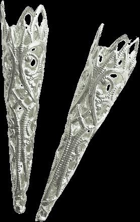 Luxe Zilveren Veerpuntjes