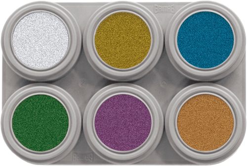 Grimas Water Make-up M6 Metallic Pure Palet
